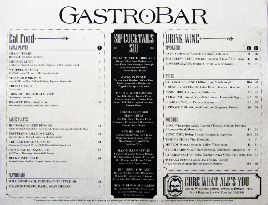 Celebrity Drink Lists! Prices, menus, and much more ...