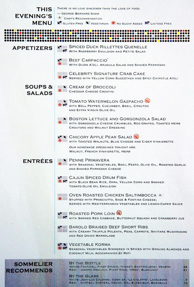 Cruise Ship Food, Dining & Restaurants   Celebrity Cruises