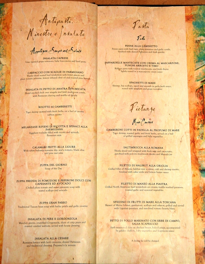 Freedom Of The Seas Food Menu