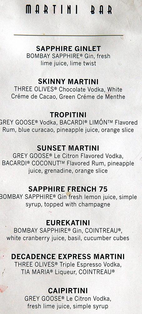 silhouette menus