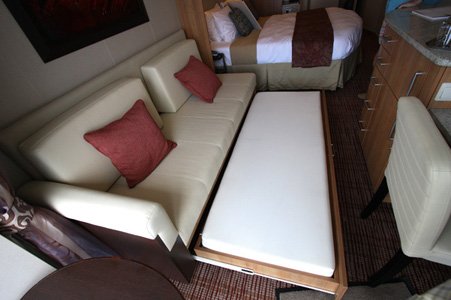 Sofa Bed Sleeps Two Solstice Or Equinox Cruise Critic